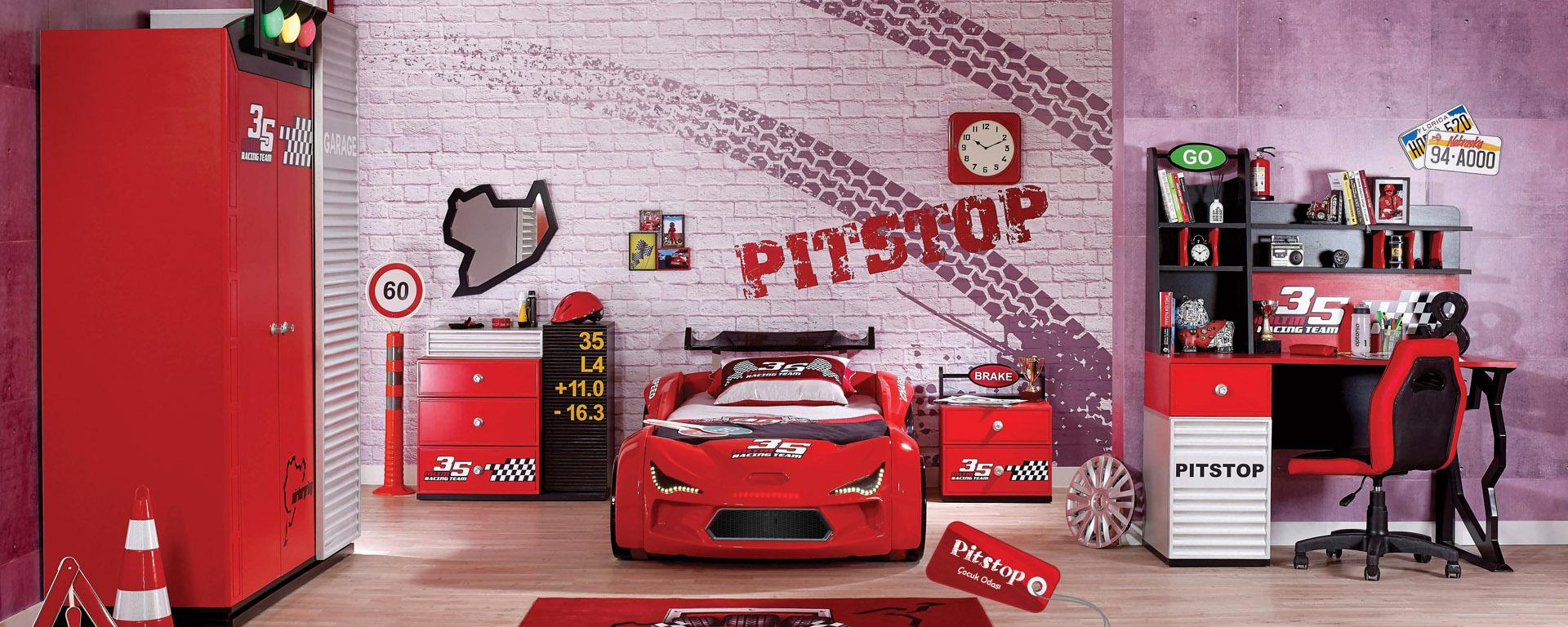 meltem mobilya pitstop arabalı Çocuk odası | odası modelleri