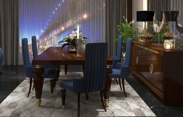 Zebrano Mobilya Tetdo Yemek Odası