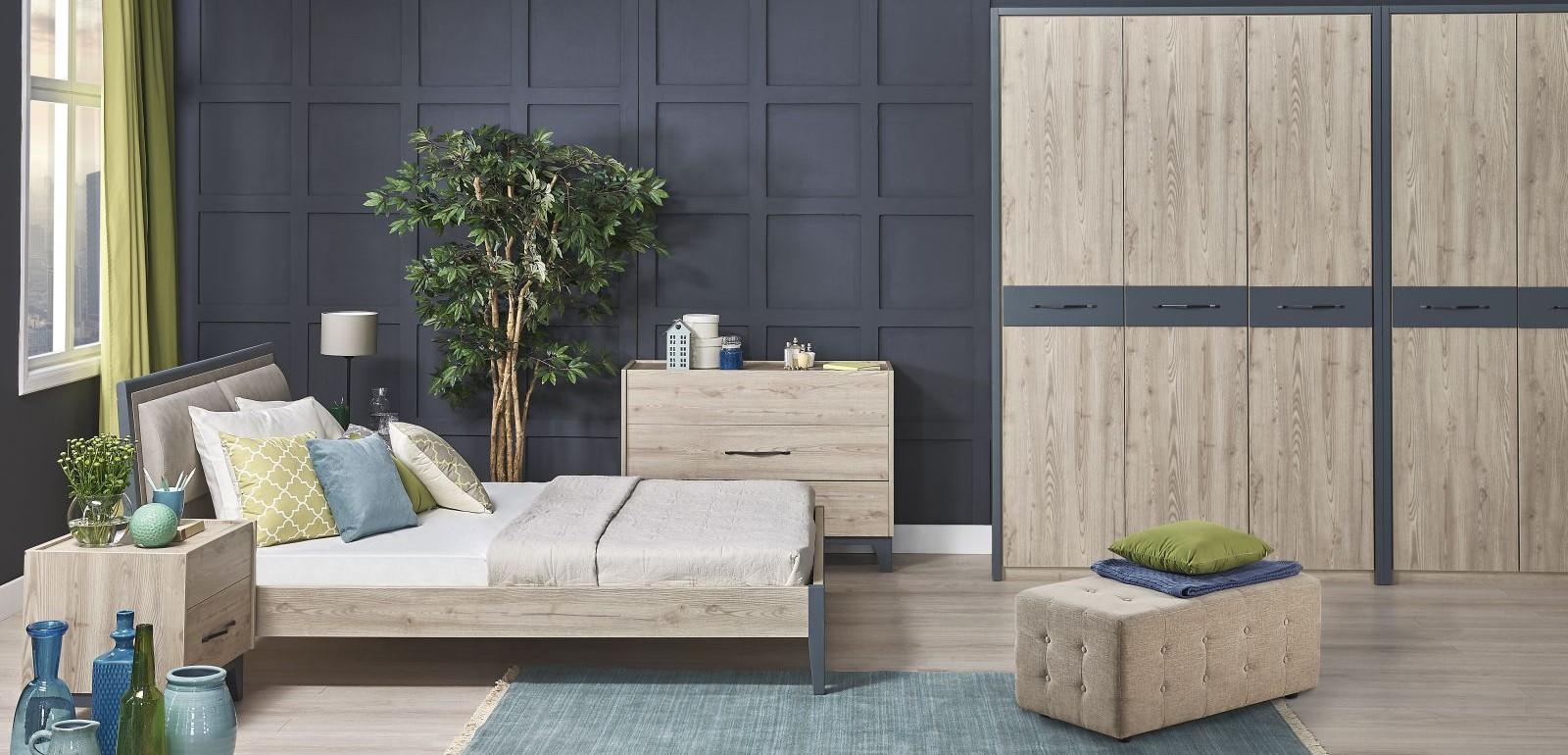 Tepe Home Mobilya Gray Yatak Odası