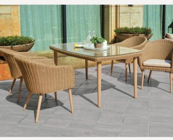 Bauhaus Hasır Mutfak Masa Sandalye Takımı