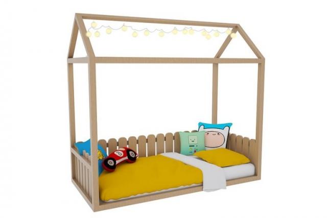 Tırtıl Mobilya Montessori Ev Şeklinde Yatak
