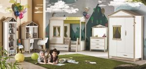 Lajivert Mobilya Montessori Küçük Ev Çocuk Odası