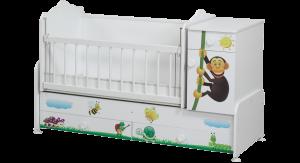 Cicila Mobilya Büyüyen Bebek Beşik