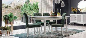 Enza Home Mobilya Yemek Masası ve Sandalye Takımı