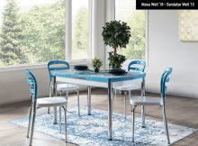 Weltew Home Mutfak Masası ve Sandalye Seti
